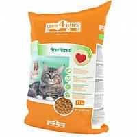 Сухой корм для кошек Клуб 4 Лапы Sterilized для Кастрированных котов и кошек 11 кг.