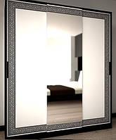 Виола шкаф-купе 1,4 м белый глянец-черный мат