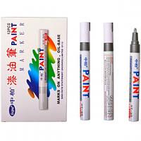 Лаковый маркер для металла резины Paint серебряный