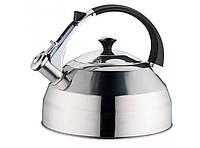 Чайник из нержавейки со свистком Frico FRU-757, объем 3,5 л, многослойное индукционное дно, 4 цвета