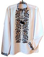 """Чоловіча вишита сорочка """"Ноел"""" (Мужская вышитая рубашка """"Ноел"""") SK-0004"""