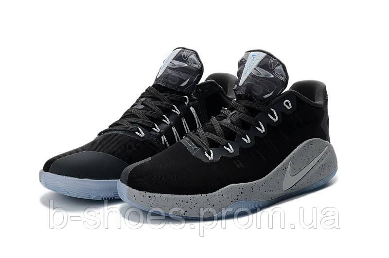 Мужские баскетбольные кросовки Nike Hyperdunk 2016 Low (Black/Grey)