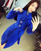 Женское демисезонное кашемировое пальто с подкладкой. Материал кашемир. Размер 42-48.
