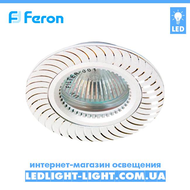 Врізний точковий світильник Feron GS-M392 білий.