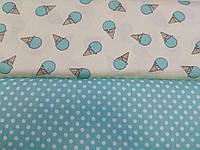 Детское постельное белье из сатина Мороженки Blue