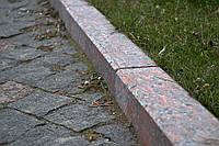 Тротуарный бордюр из красного гранита, фото 1