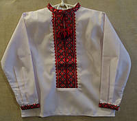 Вышиванка для мальчика (ручная вышивка), рост 92-104 см