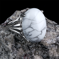 Кахолонг, серебро 925, кольцо, 244КК