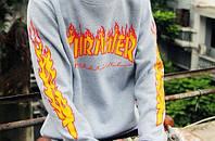 Свитшот Thrasher в сером цвете реплика