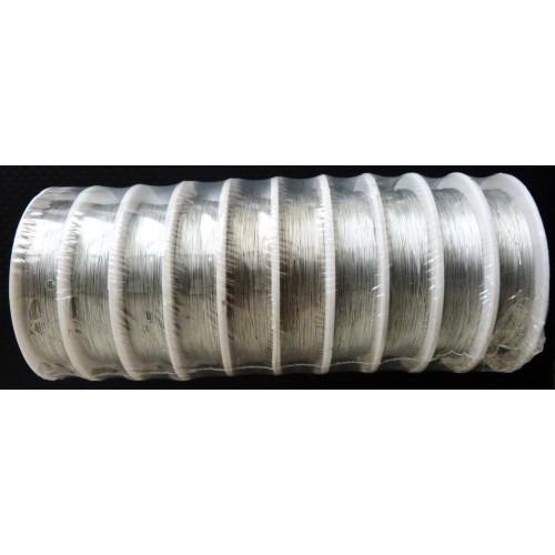 Проволока для бисера 0,3мм / 10м серебро
