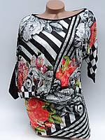 Модные женские туники. Розы (в расцветках 46)