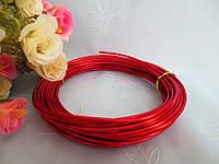 Проволока для рукоделия, 2 мм,  цвет красный, 10 м