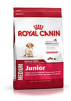 Корм для щенков в возрасте до 12 месяцев 4 кг.Royal Canin (Роял Канин) Medium Junior