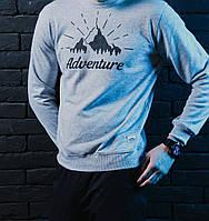 Свитшот Pobedov sweatshirts Adventure серый