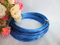 Проволока для рукоделия, 2 мм,  цвет синий, 10 м