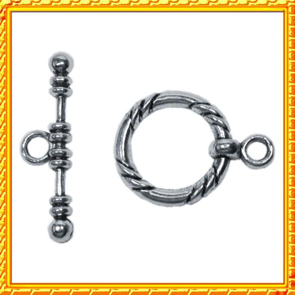 Новое Поступление: Застежки Тогл Средний и Малый, Металл; Бусина Шарм Денежный Мешок Металлическая Цвет: Серебро