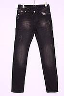 Джинсы мужские черные с потертостями Febbre (код F-070)