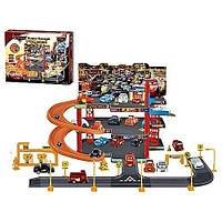 Паркинг-гараж Р 1199 ТЧ, герои мультфильма Тачки, 6 машинок, 3 этажа парковки, заправка, знаки, супер гараж