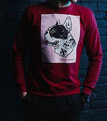 Свитшот Pobedov sweatshirts pug-dog красный