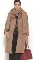 Кашемировое пальто большого размера с воротником с лацканами
