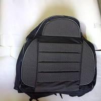Чехлы универсальные Pilot B кожзам черный + ткань темно- серая (с карманом)