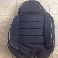 Чехлы универсальные Pilot B ткань+ткань темно- серая (без кармана)
