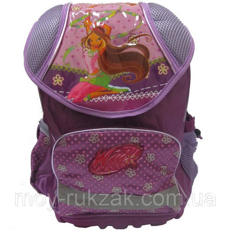 """Рюкзак школьный """"Winx-2"""", металлический каркас, пластиковый поддон, арт. 520244"""