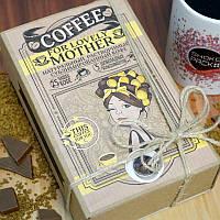 Кофейный набор For Lovely Mother Маме 50 грамм кофе в подарочной  упаковке + 5 плиточек молочного шоколада