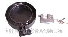 Защита крышки топливного бака закрытая D=140мм (на замок с ключами)