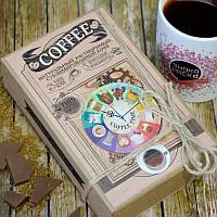 Кофейный набор Coffee 50 грамм кофе в подарочной  упаковке + 5 плиточек молочного шоколада