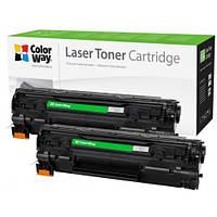 Картридж Canon 728, Black, MF4410/MF4430/MF4450/MF4550/MF4570/MF4580, 2.1k, ColorWay, Dual Pack (CW-