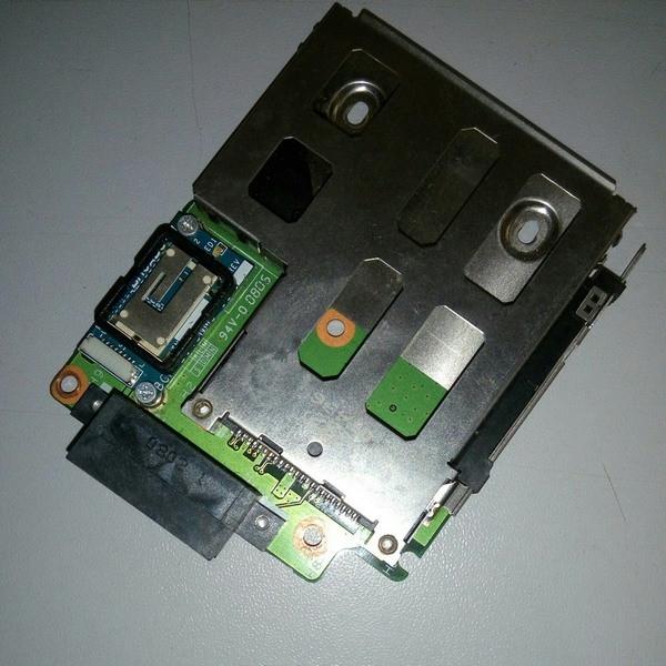Плата картридер, подключение DVD HP DV6000 (DA0AT9TH8E7)