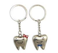 Комплект брелоков в форме зуба «мальчик+девочка», фото 1