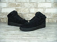 Кроссовки Nike Air Force Black Suede Hi 40-45 рр