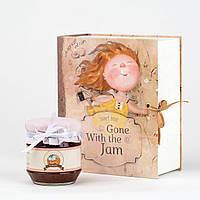 Подарочная книга Унесенные Джемом от Гапчинской Банка варенья в дизайнерской подарочной упаковке+коробка