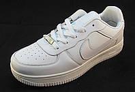 Кроссовки мужские NIKE Air Force кожаные белые (аир форсы)  (р.41,42,44)