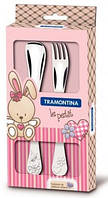 Детский набор столовых приборов Tramontina BABY Le Petit pink 2 предмета