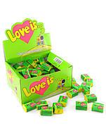 Блок жвачек Love is...яблочно-лимонная 100 шт