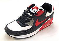 Кроссовки  Nike Air Max кожаные, сине-белые унисекс(найк аир макс)( р.36,37,38,39)