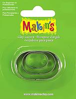 Каттер Makin's металлический для работы с полимерной глиной, Овалы, 3шт.