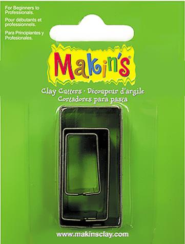 Каттер Makin's металлический для работы с полимерной глиной, Прямоугольники, 3шт.