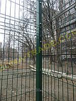Забор из оцинкованной проволоки для теннисного корта