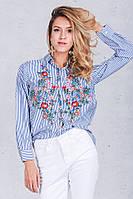 Женская модная рубашка с вышивкой, фото 1