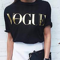 Модная женская футболка в стиле Vogue, фото 1