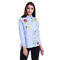 Модная полосатая рубашка с вышивкой, фото 1