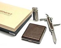Набор (Портсигар, зажигалка,  нож)