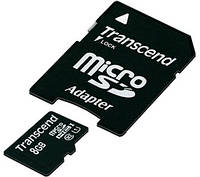 Карта памяти Transcend microSDHC 8 GB Class 10 UHS-I Premium (+ адаптер)
