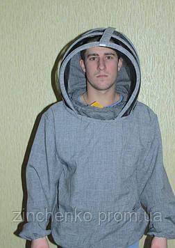 Куртка пчеловода лен-габардин, маска европейского образца