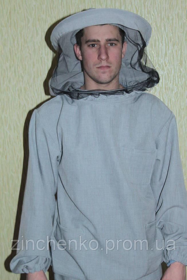 Куртка пчеловода лен-габардин, маска классического образца