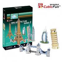 Конструктор CubicFun - Архитектура Мира серия 1 (C056h)